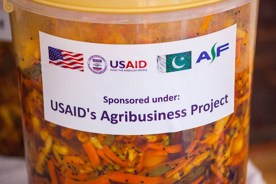 USAID's Agribusiness Project Women FEG for Food Processing - Pickle Production at Village Jabbi