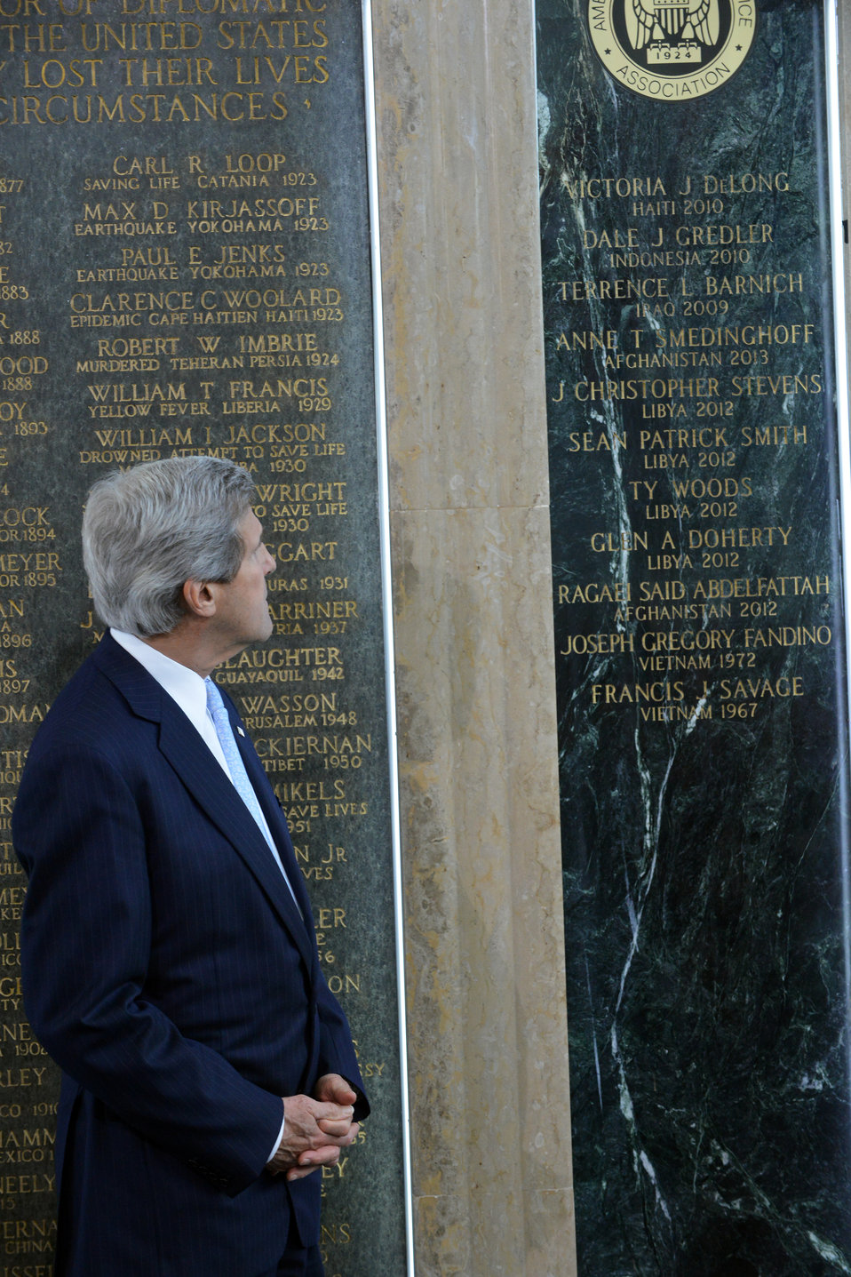 Secretary Kerry Honors Fallen Foreign Affairs Colleagues