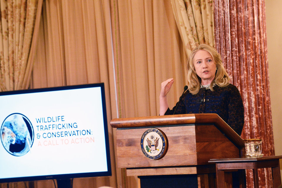 Secretary Clinton Delivers Remarks at the Partnership Meeting on Wildlife Trafficking