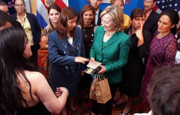 Secretary Clinton With Women Entrepreneurs