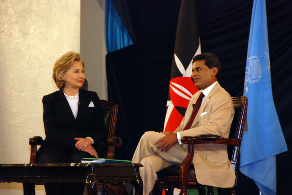 Secretary Clinton Participates in Town Hall Meeting