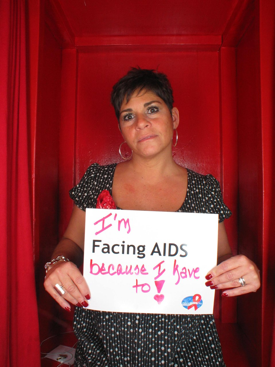 I'm Facing AIDS because I have to!