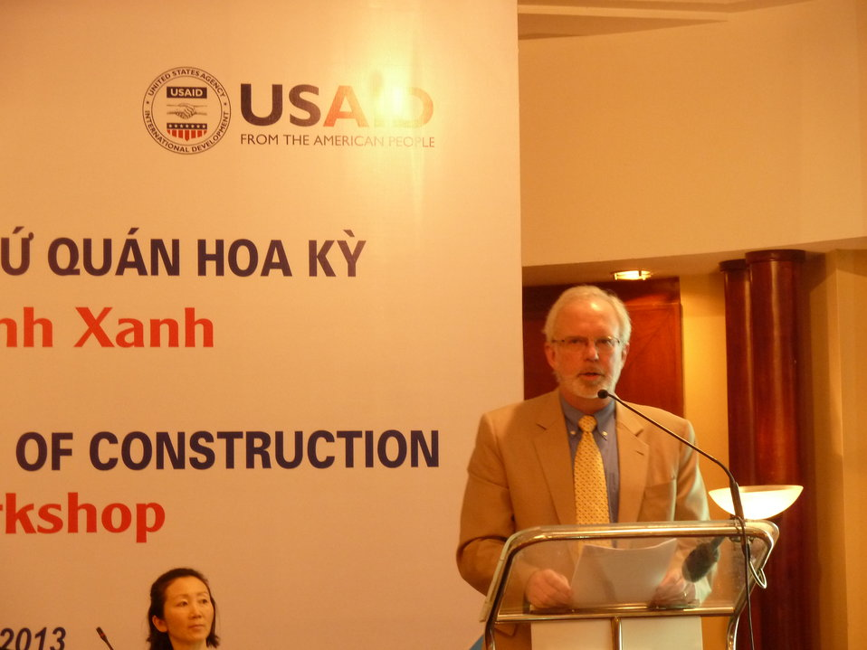 U.S. Ambassador David Shear Speaks at Green Building and Energy Workshop
