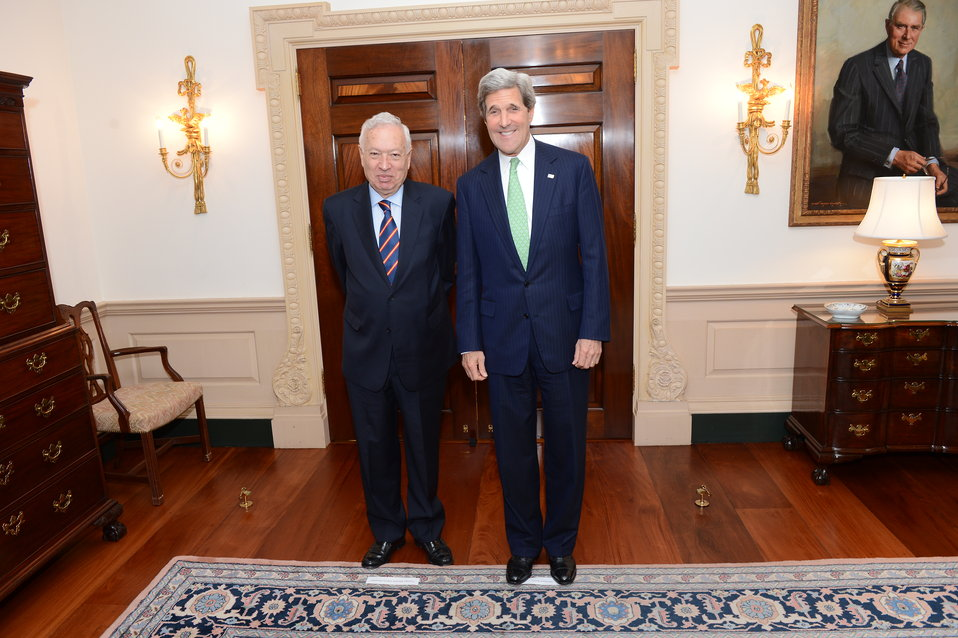 Secretary Kerry Meets With Spanish Foreign Minister Garcia-Margallo
