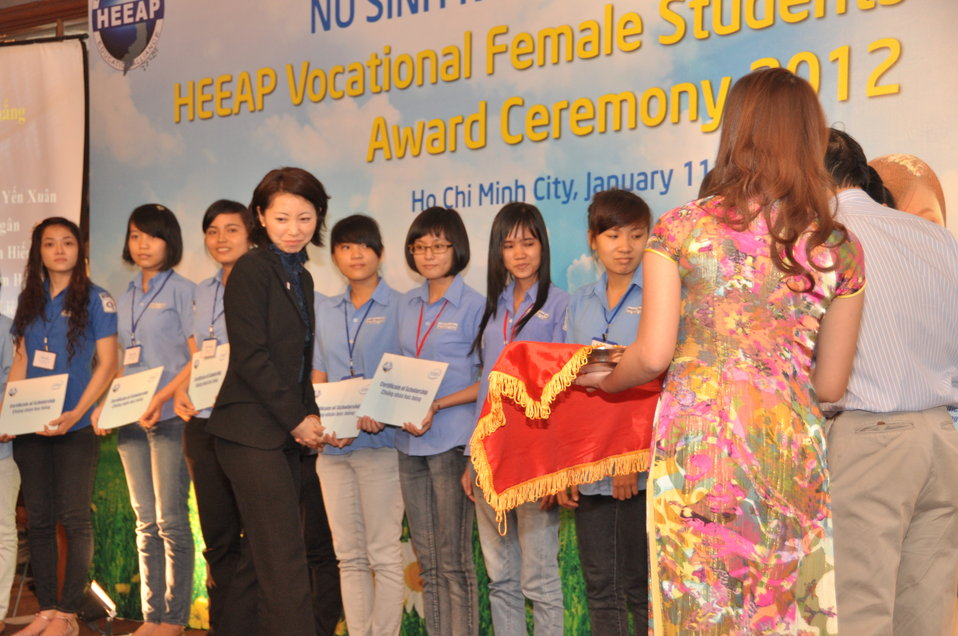 Female Vocational Student Scholarship Ceremony