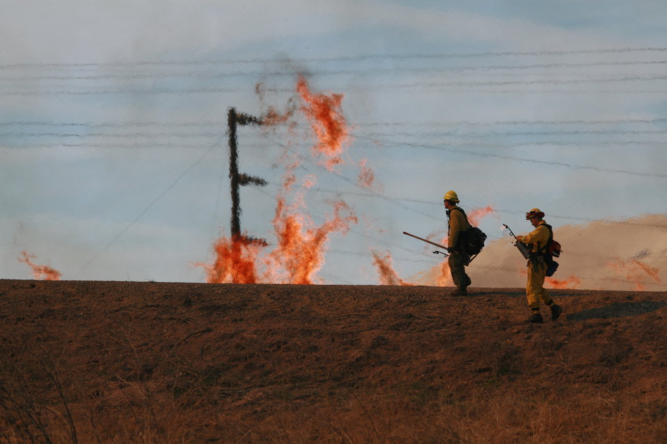 Controlled burn at Success Lake