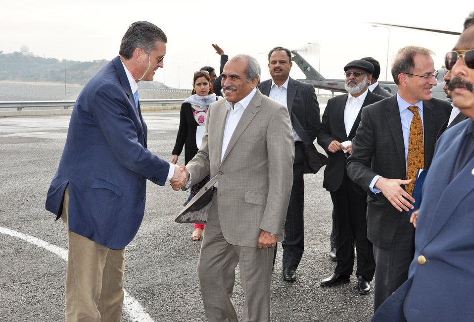 U.S. Ambassador Richard Olson meeting Wapda Chairman Raghib Shah