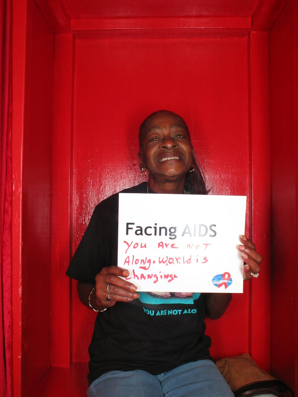 Facing AIDS you are not alone. World is changing.
