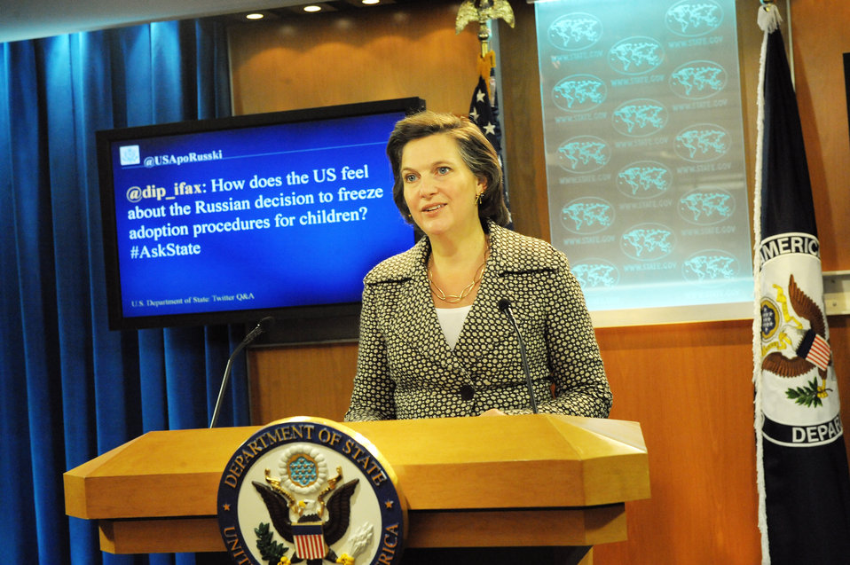 Spokesperson Nuland Responds to a Question from @USApoRusski