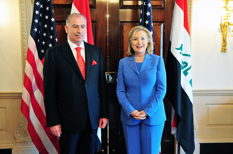 Secretary Clinton Meets With Iraqi Parliament Osama al-Nujaifi