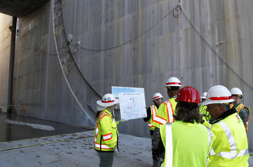 Gate support structure work continues at Folsom spillway project