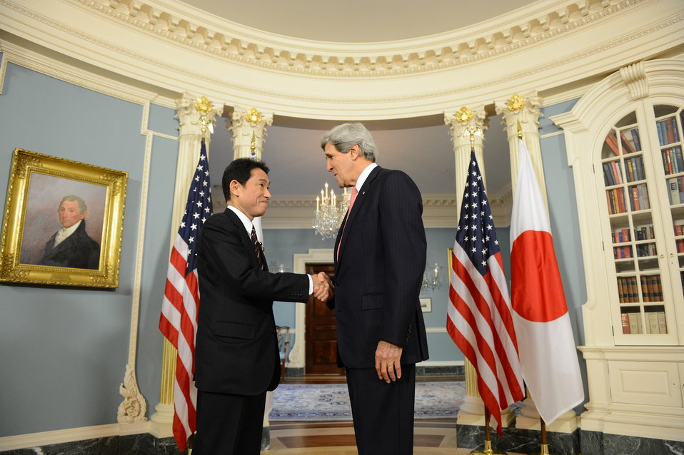Secretary Kerry Meets With Japanese Foreign Minister Kishida