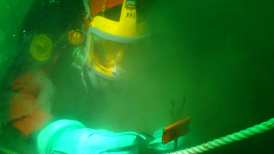 Up close with an underwater cap, Wykoff Superfund Site, Puget Sound, Washington.