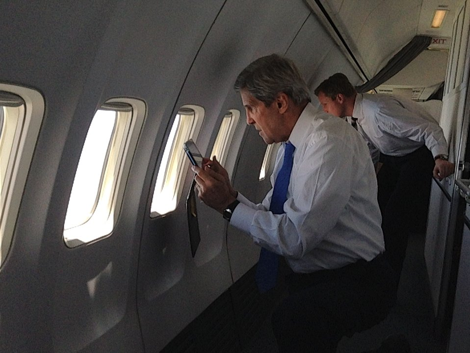 Secretary Kerry Takes a Photo