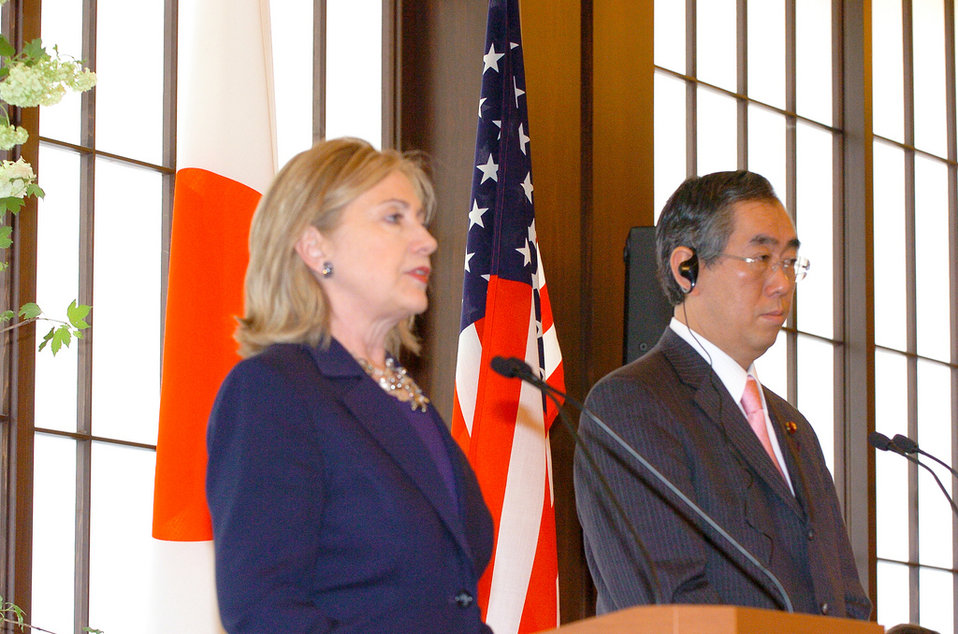 Secretary Clinton and Japanese Foreign Minister Matsumoto