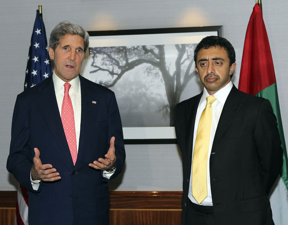 Secretary Kerry Meets With UAE Foreign Minister Abdullah
