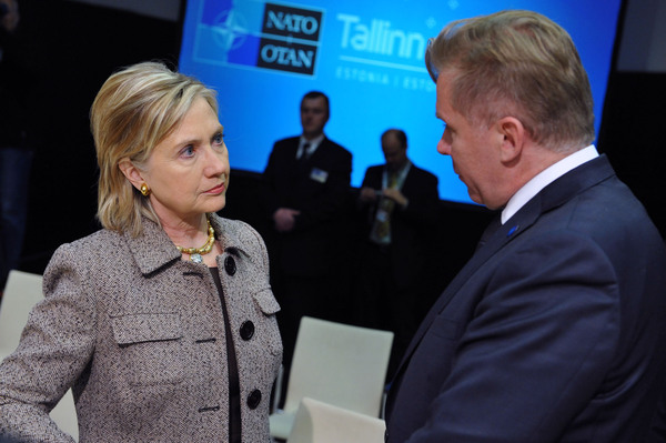 Secretary Clinton With Lithuanian Foreign Affairs Minister Azubalis