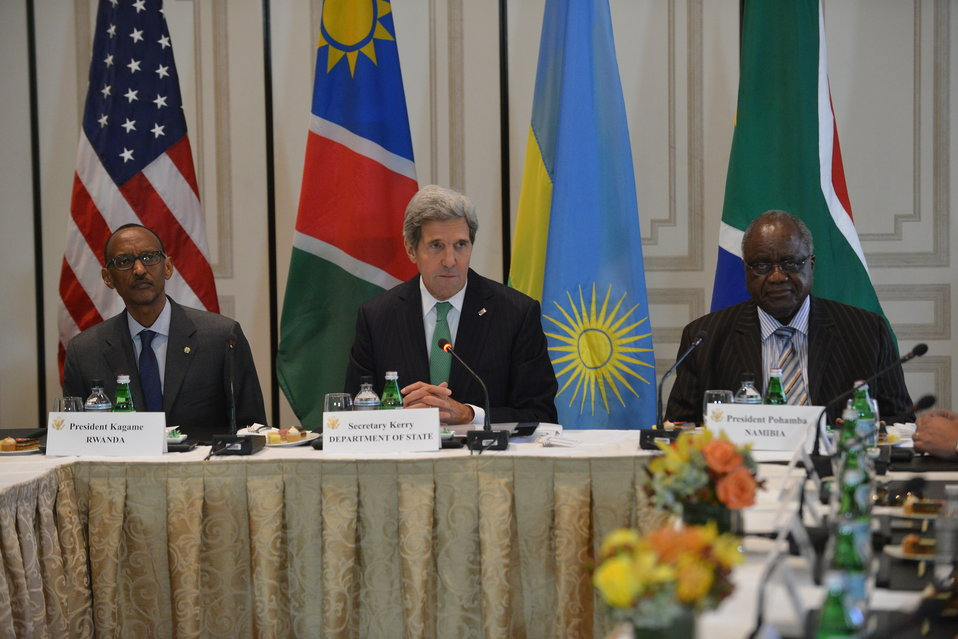 Secretary Kerry Hosts a High-Level Meeting With PEPFAR Partners