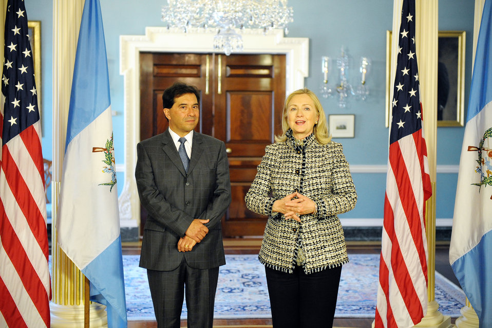 Secretary Clinton Meets With Guatemalan Foreign Minister Foreign Minister Caballeros