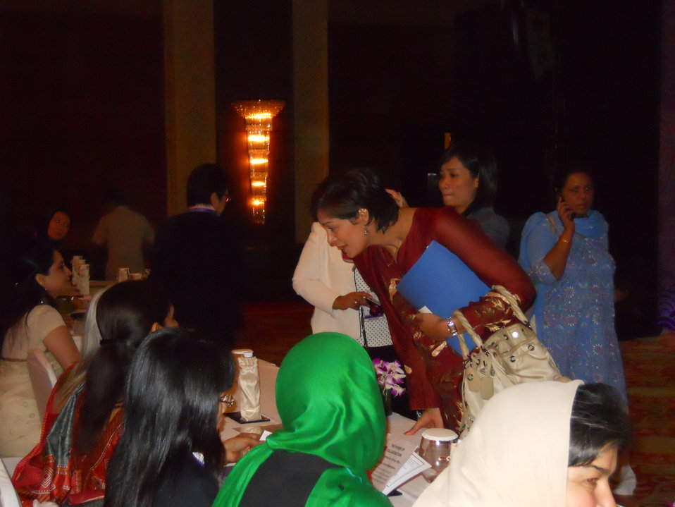 Summit Participants Chat With CNN International's Zain Verjee at the Opening of the Vital Voices Women's Empowerment Summit