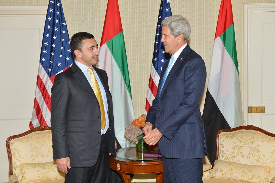Secretary Kerry Meets With UAE Foreign Minster bin Zayed