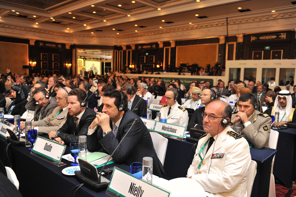 Delegates at the Seventh IISS Regional Security Summit Manama Dialogue Listen to the Speaker