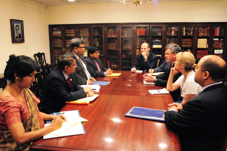 South and Central Asian Affairs Representatives Meet With Bangladeshi Foreign Secretary Mijarul Quayes