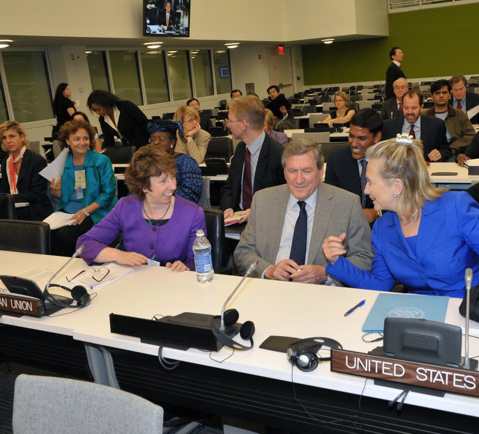 Secretary Clinton, Special Representative Holbrooke, and EU High Representative Ashton Speaks at the High-Level Ministerial Meeting on the Pakistan Flood Emergency