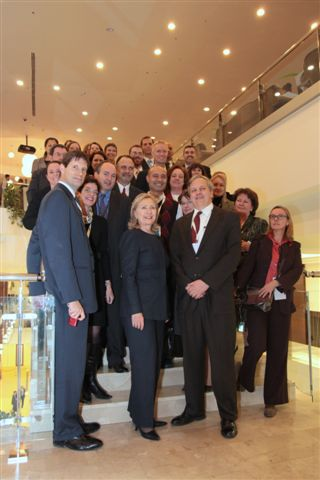 Secretary Clinton Poses for a Photo With OSCE Leaders