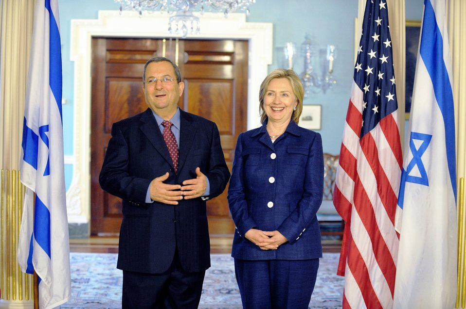 Secretary Clinton Hosts Bilateral Meeting With Israeli Defense Minister Barak