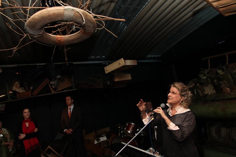 Artist Jana Napoli Remarks on the 'Floodwall' Exhibit