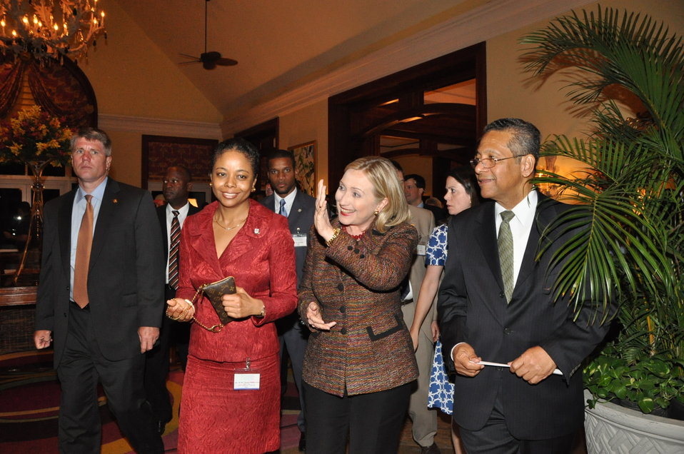 Secretary Clinton Attends a Reception for CARICOM Ministers