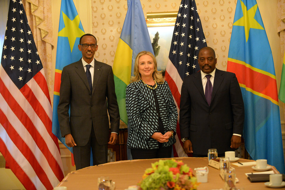 Secretary Clinton Meets With Congolese President Kabila and Rwandan President Kagame