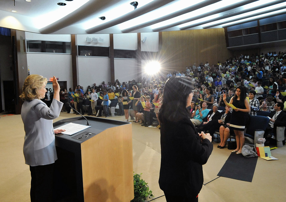 Secretary Clinton Delivers Remarks for Take Your Child to Work Day