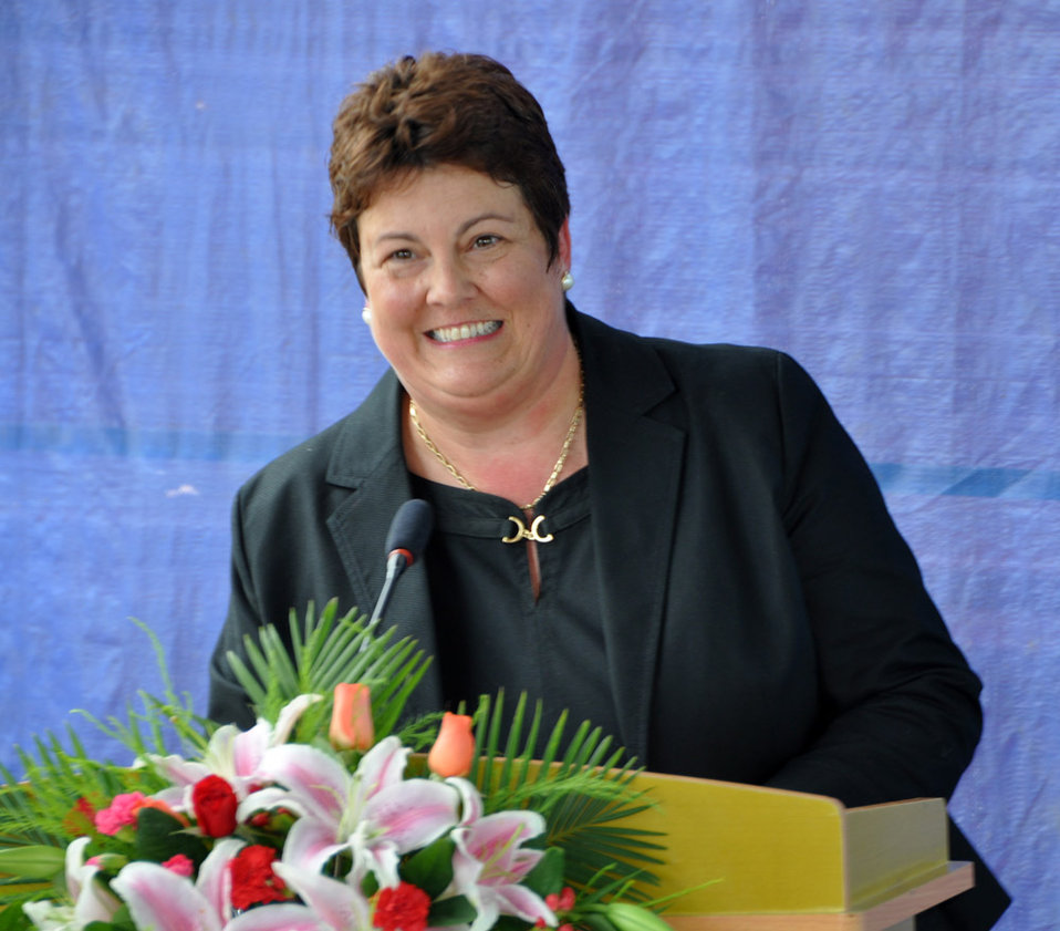 U.S. Charge d'Affaires Virgina Palmer at the UXO clearance ceremony, June 17, 2011, in Danang, Vietnam.