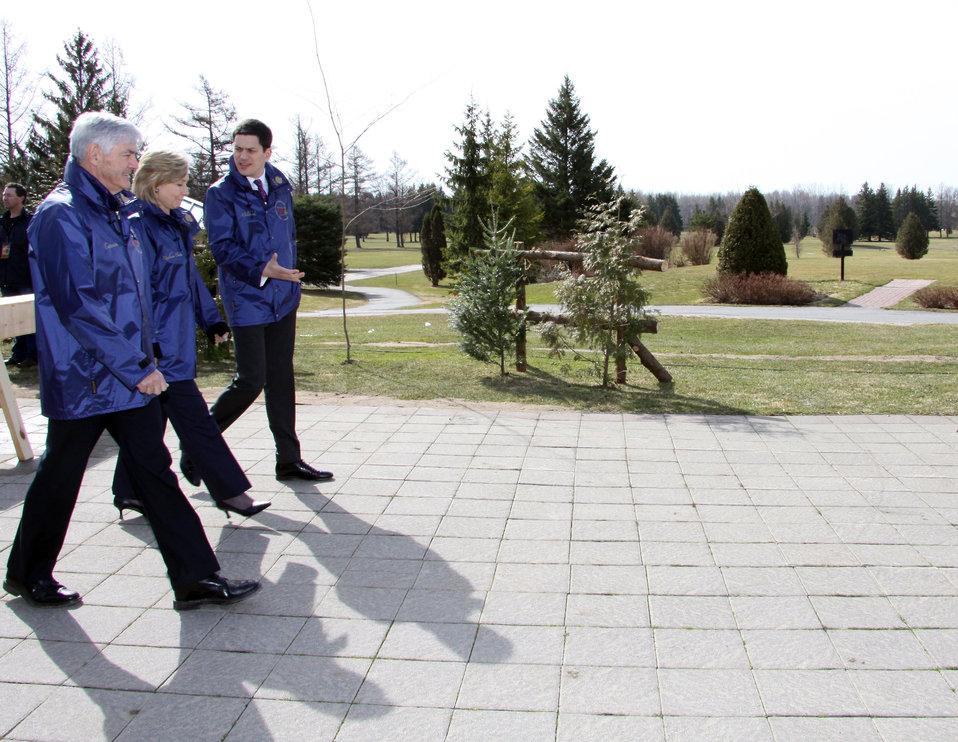 Secretary Clinton With G8 Leaders in Ottawa