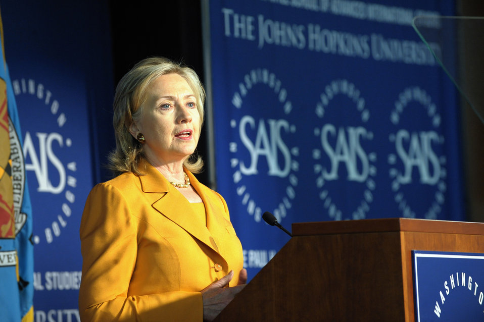 Secretary Clinton Delivers Remarks on the Global Health Initiative at John Hopkins School of Advanced International Studies