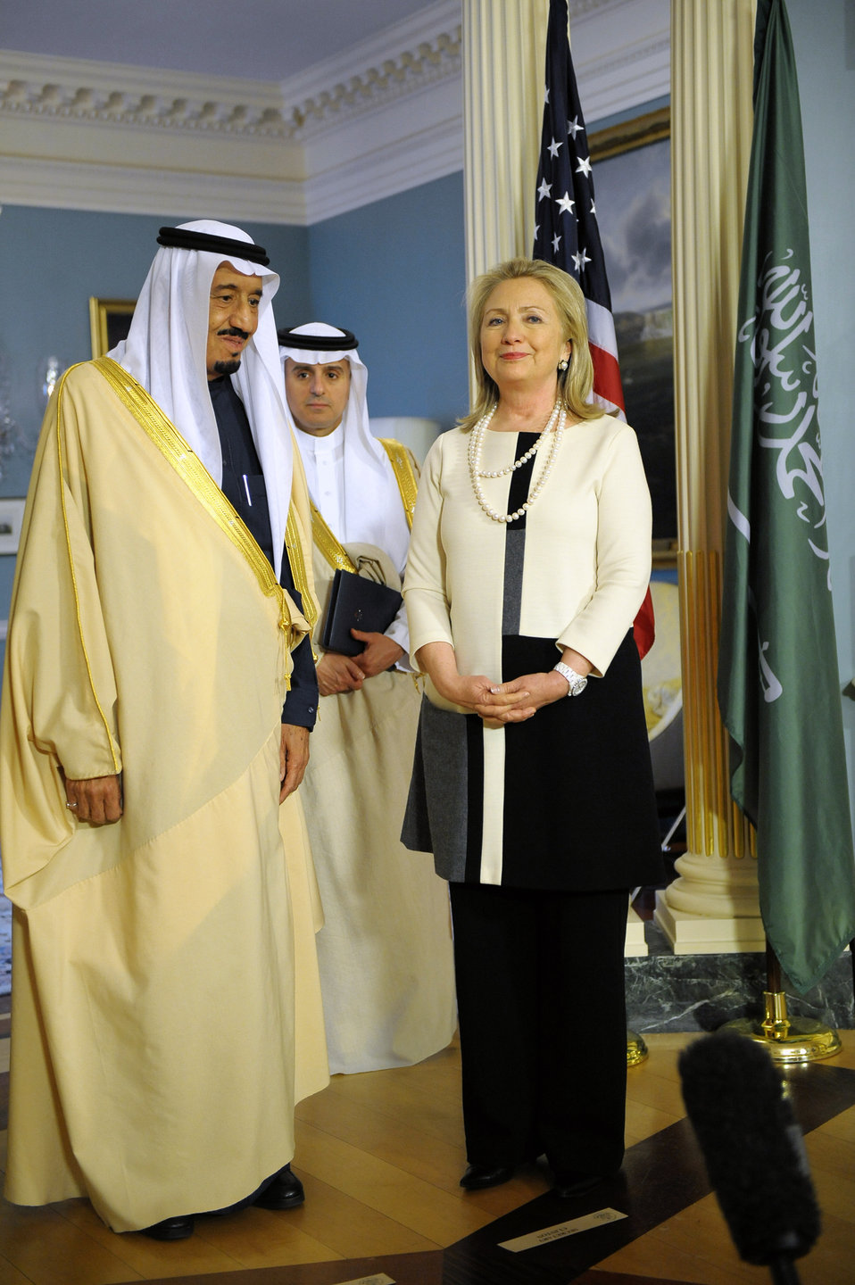 Secretary Clinton Poses With Saudi Arabian Defense Minister Salman