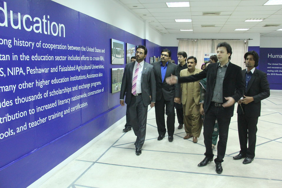 Multan, February 22, 2013 - USAID Senior Program Specialist Habib-ur-Rehman inaugurated a photo exhibition in Multan today to celebrate more than five decades of cooperation between the United States and Pakistan.