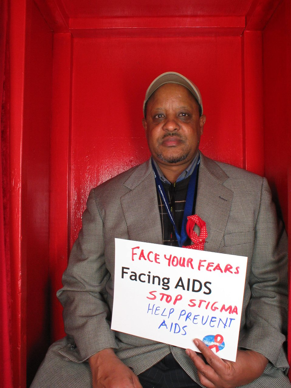 Face your fears. Facing AIDS stop stigma. Help prevent AIDS