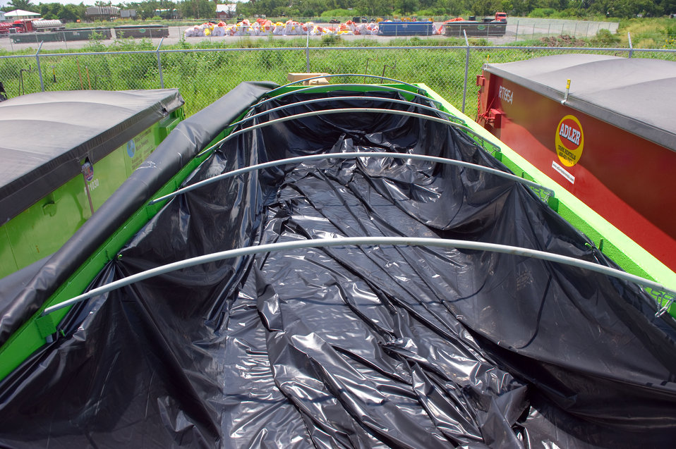 August 7, Waste containers lined to prevent leaks