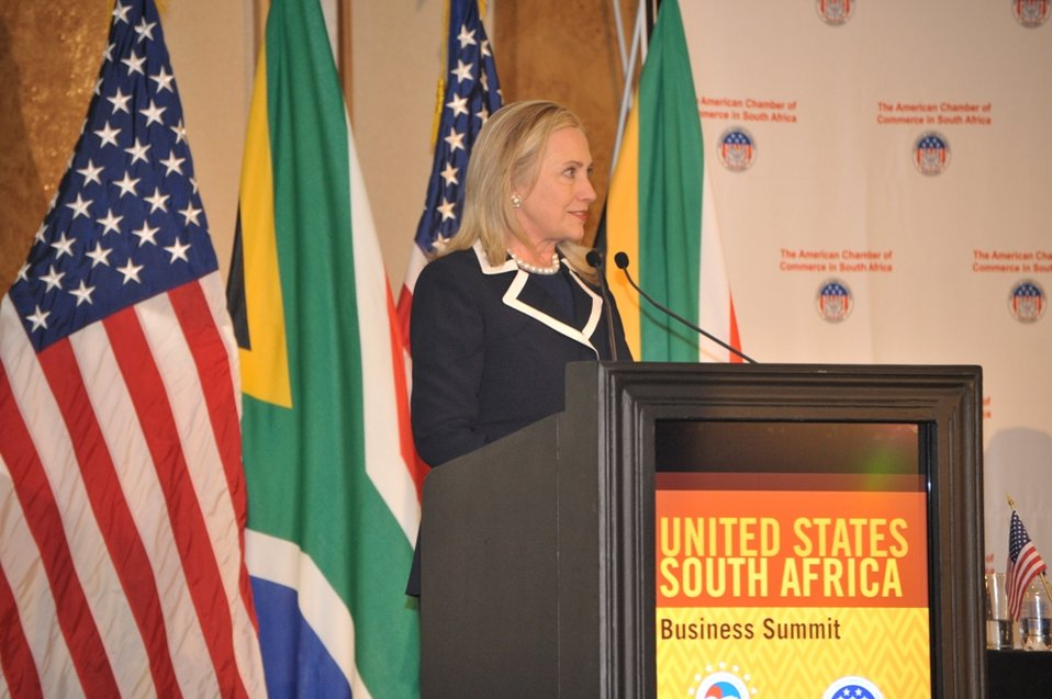 Secretary Clinton Delivers Remarks at the U.S.-South Africa Business Partnership Summit