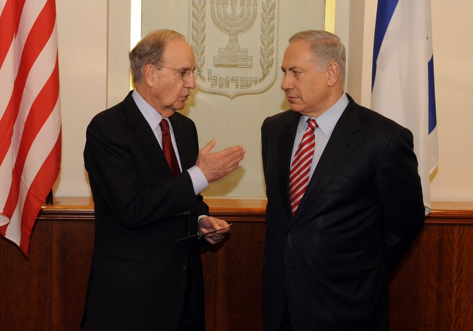 Special Envoy Mitchell With Israeli Prime Minister Benjamin Netanyahu