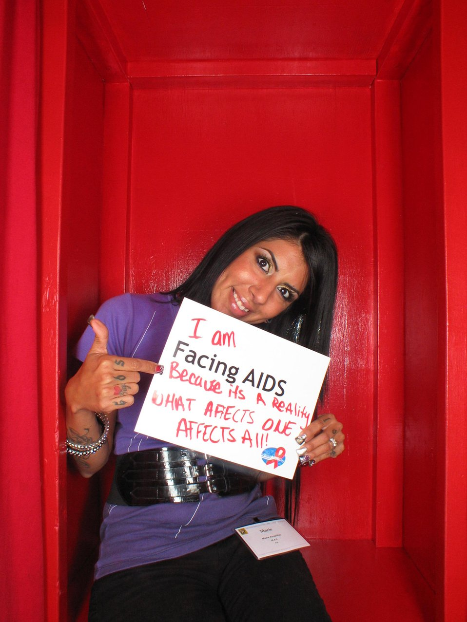 Facing AIDS because its a reality what affects one affects all.