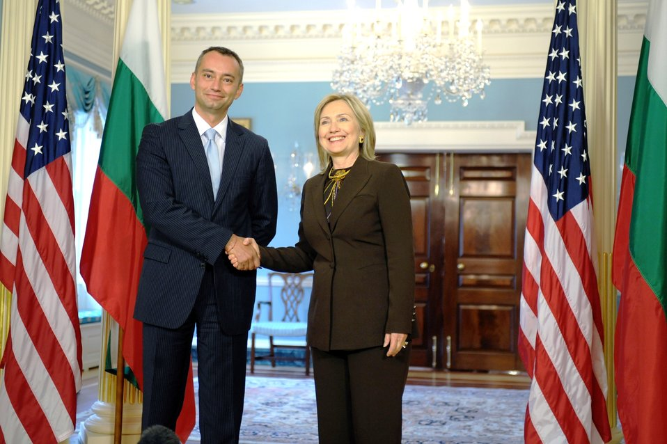 Secretary Clinton Holds a Bilateral With Bulgarian Foreign Minister Mladenov