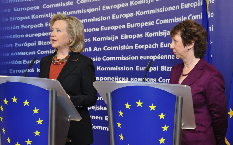 Secretary Clinton and EU High Representative Ashton Deliver a Joint Press Statement