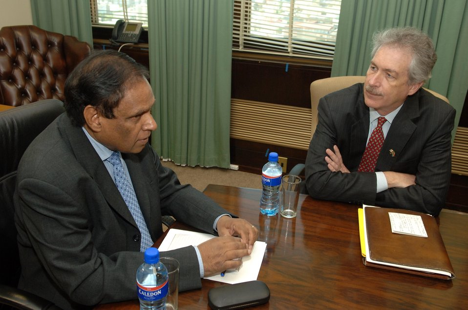 South African Deputy Foreign Minister Ebrahim Ebrahim Meets With U.S. Under Secretary William J. Burns