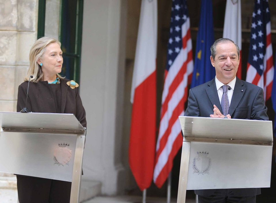 Secretary Clinton and Maltese Prime Minister Gonzi Hold a Joint Press Conference