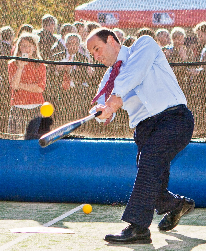 Ambassador Bleich Plays Baseball