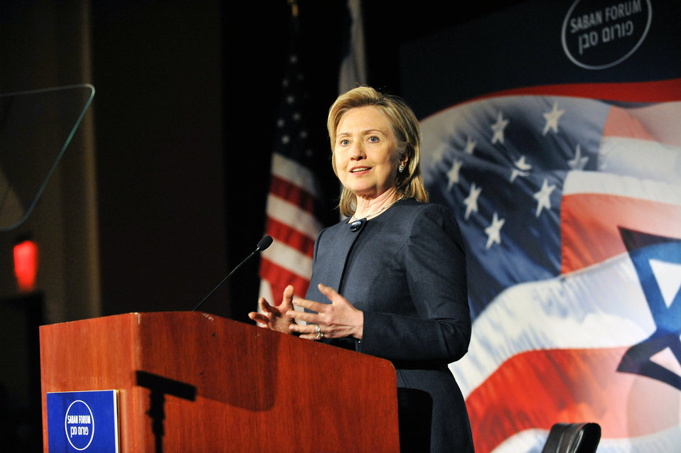 Secretary Clinton Delivers Remarks at the Saban Forum Gala Dinner
